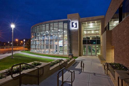 SSU Building at night
