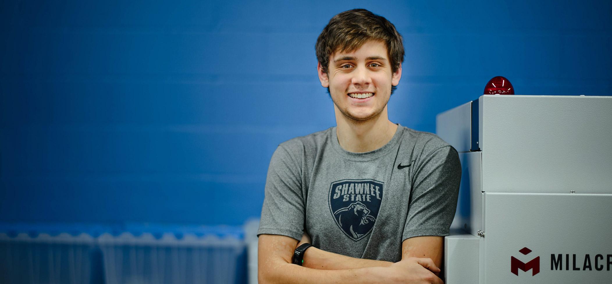 Aaron Mazurkiewicz smiling