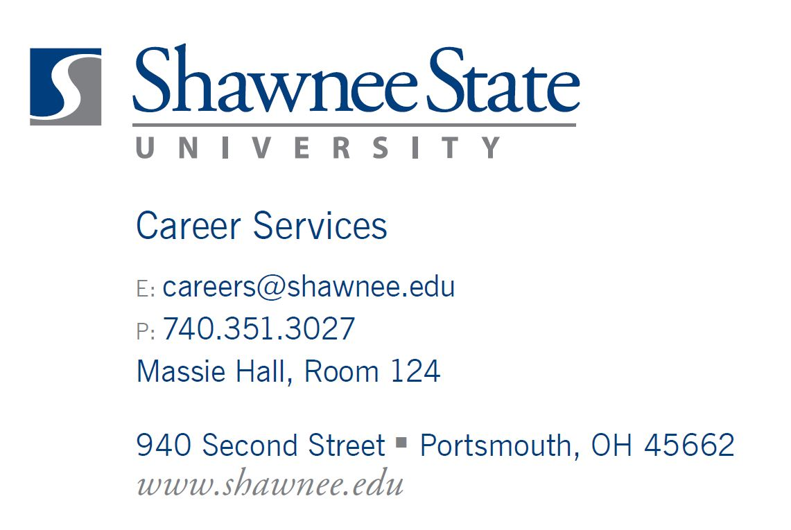 Shawnee State University Career Services Contact information