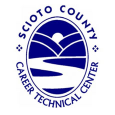 "Scioto oval imagery with surrounding text reading ""SCIOTO COUNTY CAREER TECHNICAL CENTER"""
