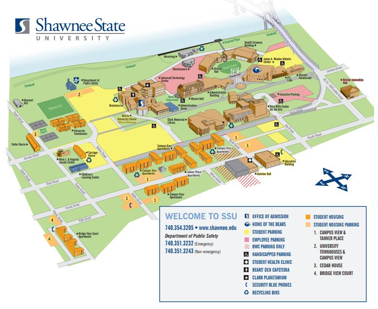 shawnee state university campus map Visit Us Shawnee State shawnee state university campus map
