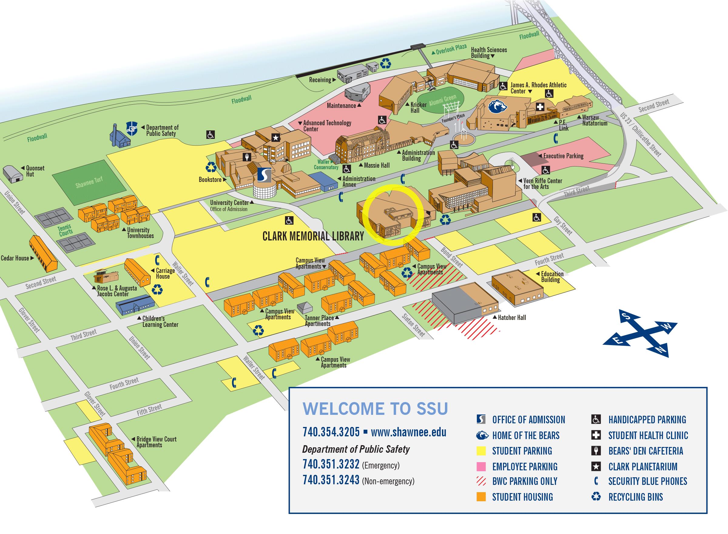 shawnee state university campus map Shawnee State University Campus Map Map Of The World shawnee state university campus map
