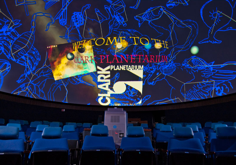 planetarium screen with images of constellations