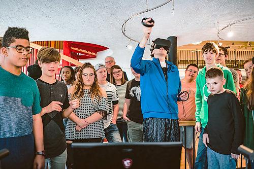 High school students at Kricker Innovation Hub