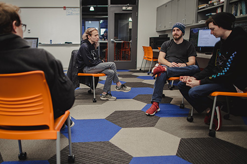 Students in Game Lab