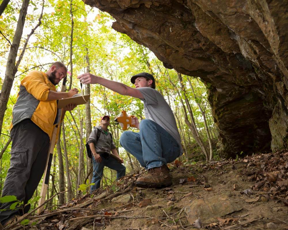Geology field trip to Shawnee Forest
