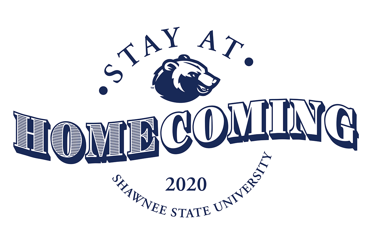 "Graphic with the text ""Stay at HOMEcoming 2020"""