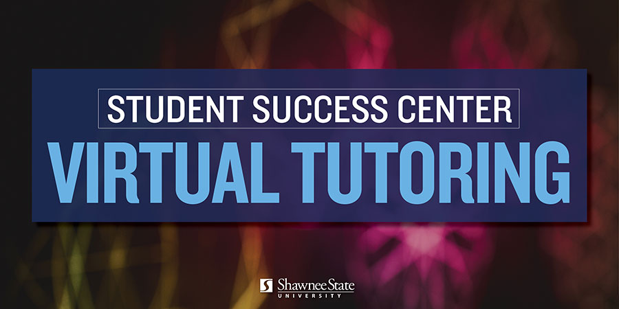 """Graphic with the text """"Student Success Center Virtual Tutoring"""""""