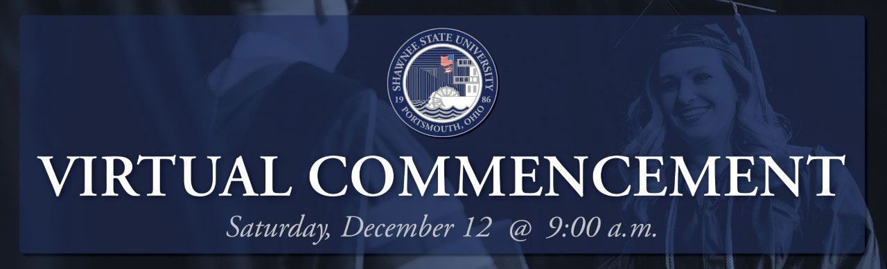 "banner graphic with the text ""Virtual Commencement"""
