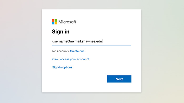 Screenshot of @MyMail login page