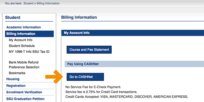 Bill Pay Screenshot