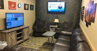 Veterans Services student lounge