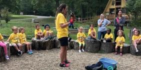 SSU CLC preschool students at Shawnee Forest