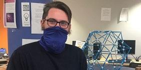 Logan Boston, pictured in the Shawnee State Math Lab
