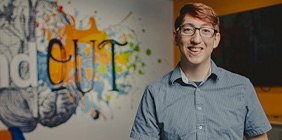 portrait of Michael Shoemaker in gaming lab