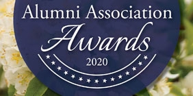 """Graphic with the text """"Alumni Association Awards"""""""