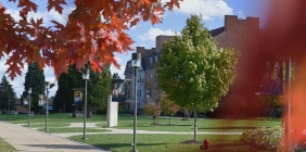 Massie Hall in Fall