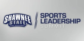 """Graphic with the text """"Sports Leadership"""""""