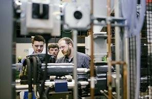 Students in Plastics Lab